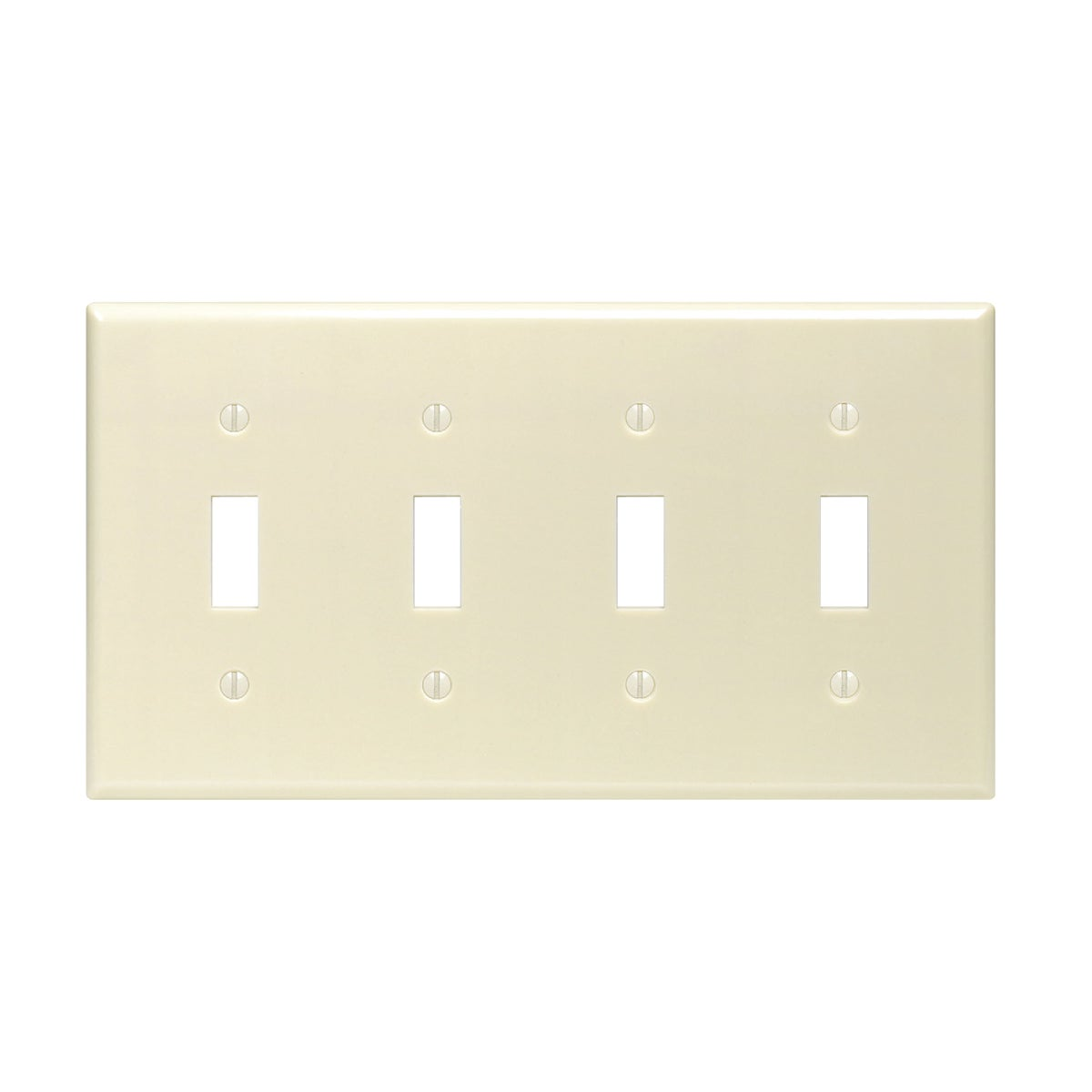 IV 4-TOGGLE WALL PLATE - 86012 by Leviton Mfg Co