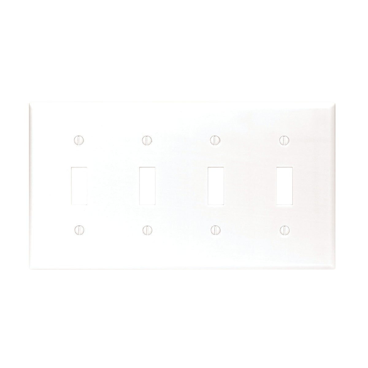 WHT 4-TOGGLE WALL PLATE - 88012 by Leviton Mfg Co