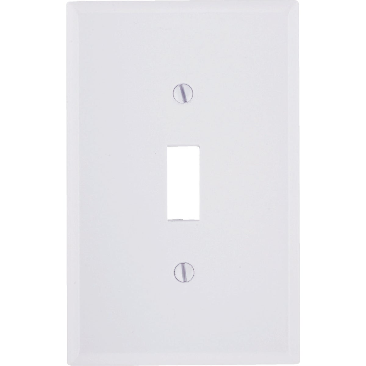 WHT 1-TOGGLE WALL PLATE - 021-80501-W by Leviton Mfg Co