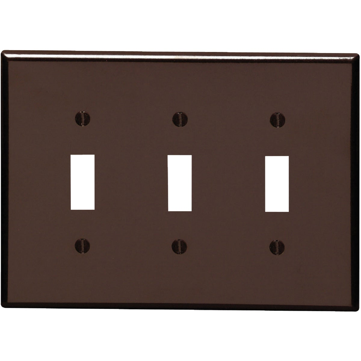 BRN 3-TOGGLE WALL PLATE - 80511 by Leviton Mfg Co