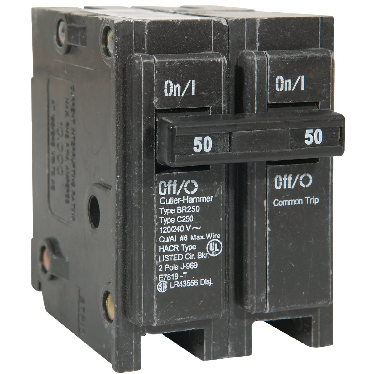 50A 2P CIRCUIT BREAKER - BR250 by Eaton Corporation