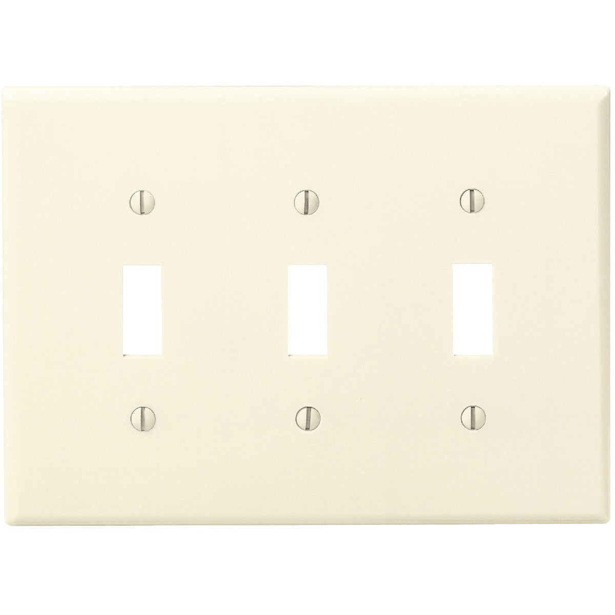 IV 3-TOGGLE WALL PLATE - 80511I by Leviton Mfg Co
