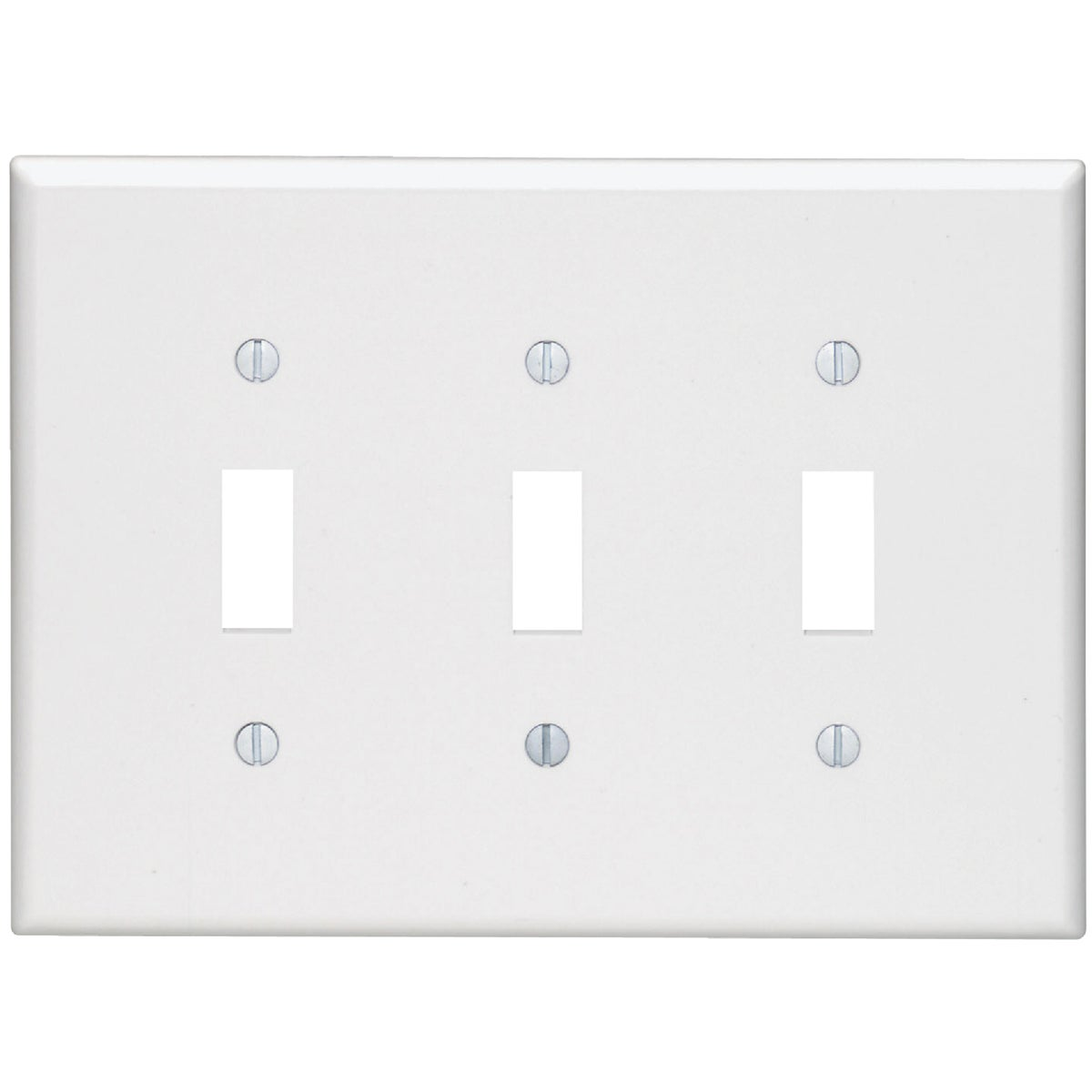 WHT 3-TOGGLE WALL PLATE - 80511W by Leviton Mfg Co