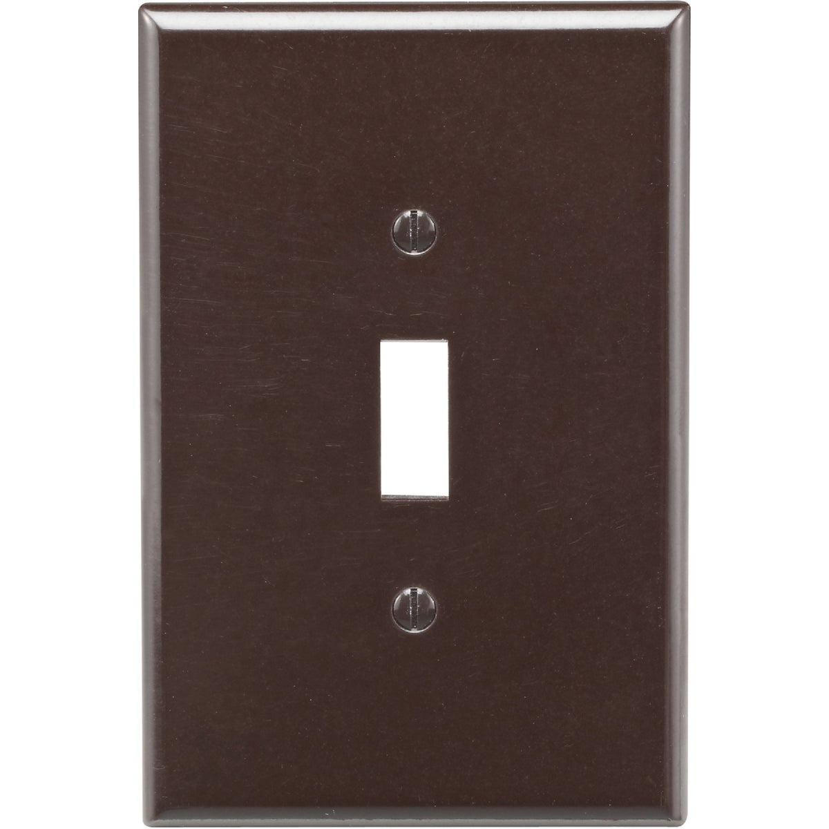 BRN 1-TOGGLE WALL PLATE - 85101 by Leviton Mfg Co