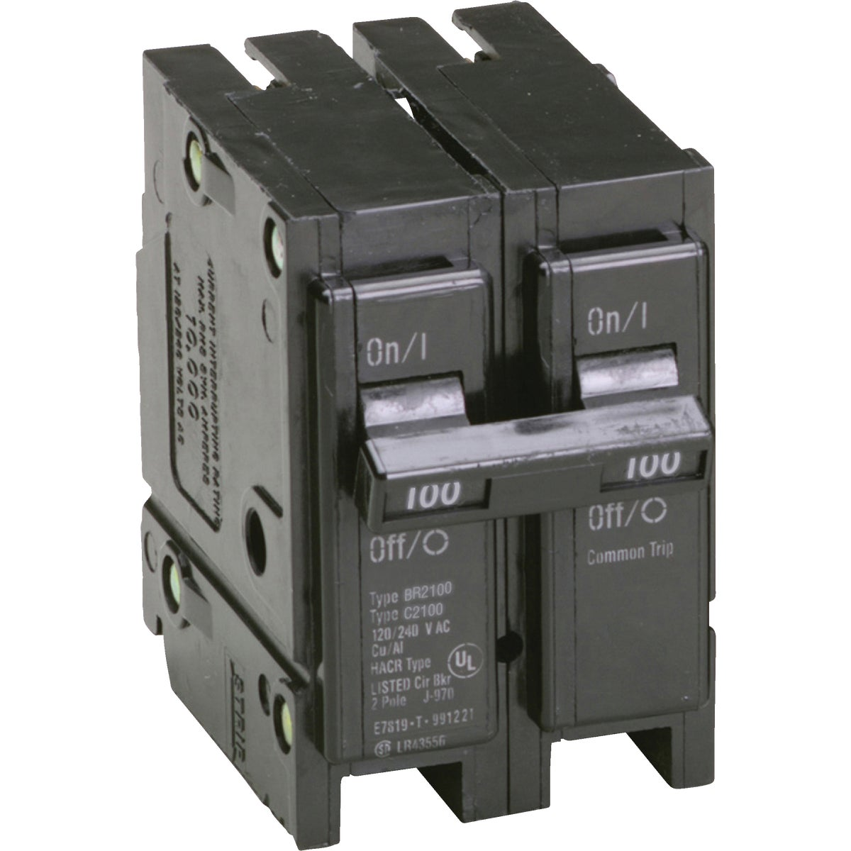 100A 2P CIRCUIT BREAKER - BR2100 by Eaton Corporation