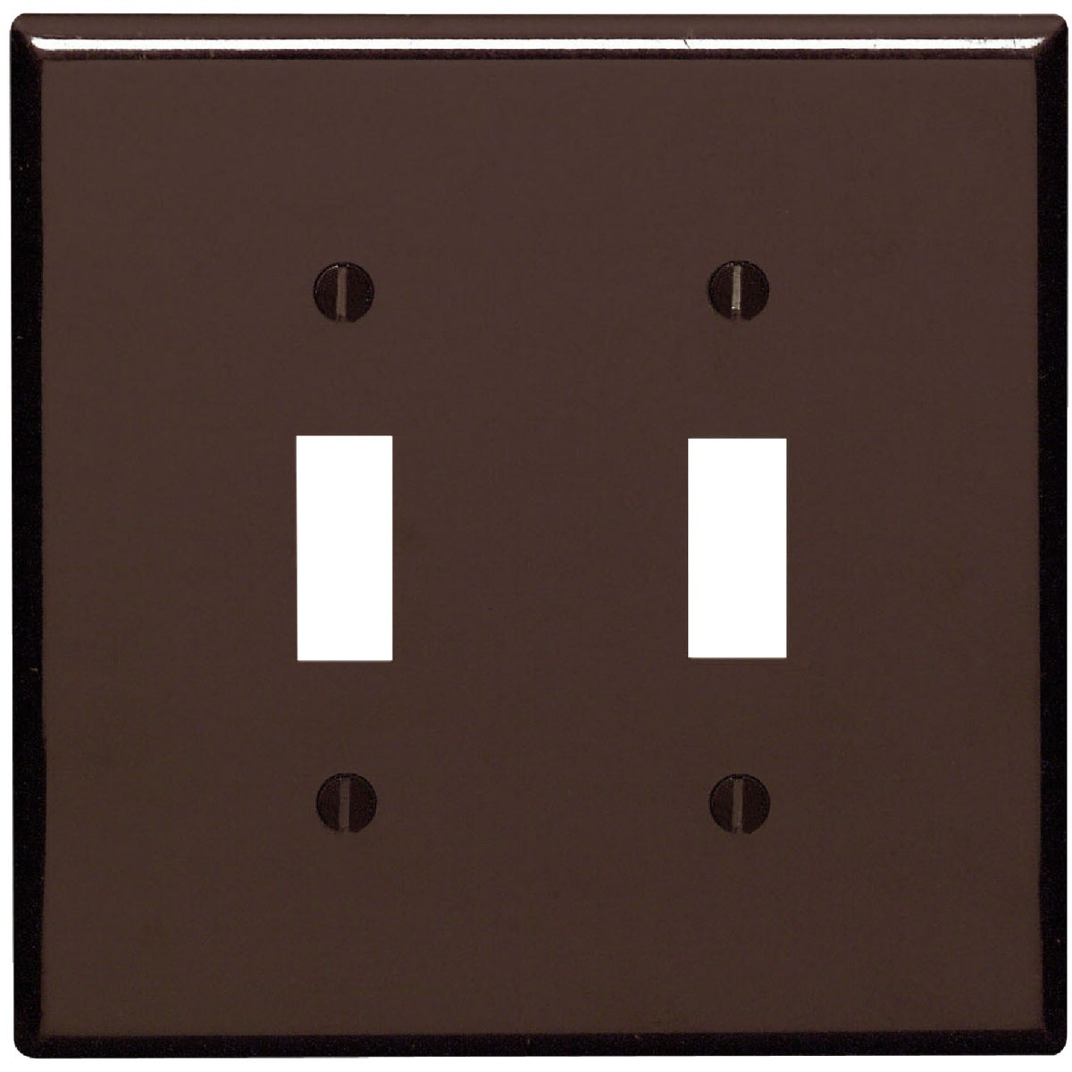 BRN 2-TOGGLE WALL PLATE - 85109 by Leviton Mfg Co