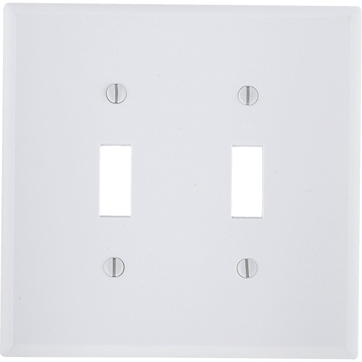 WHT 2-TOGGLE WALL PLATE