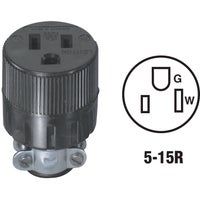 Leviton BLK CORD CONNECTOR 875617