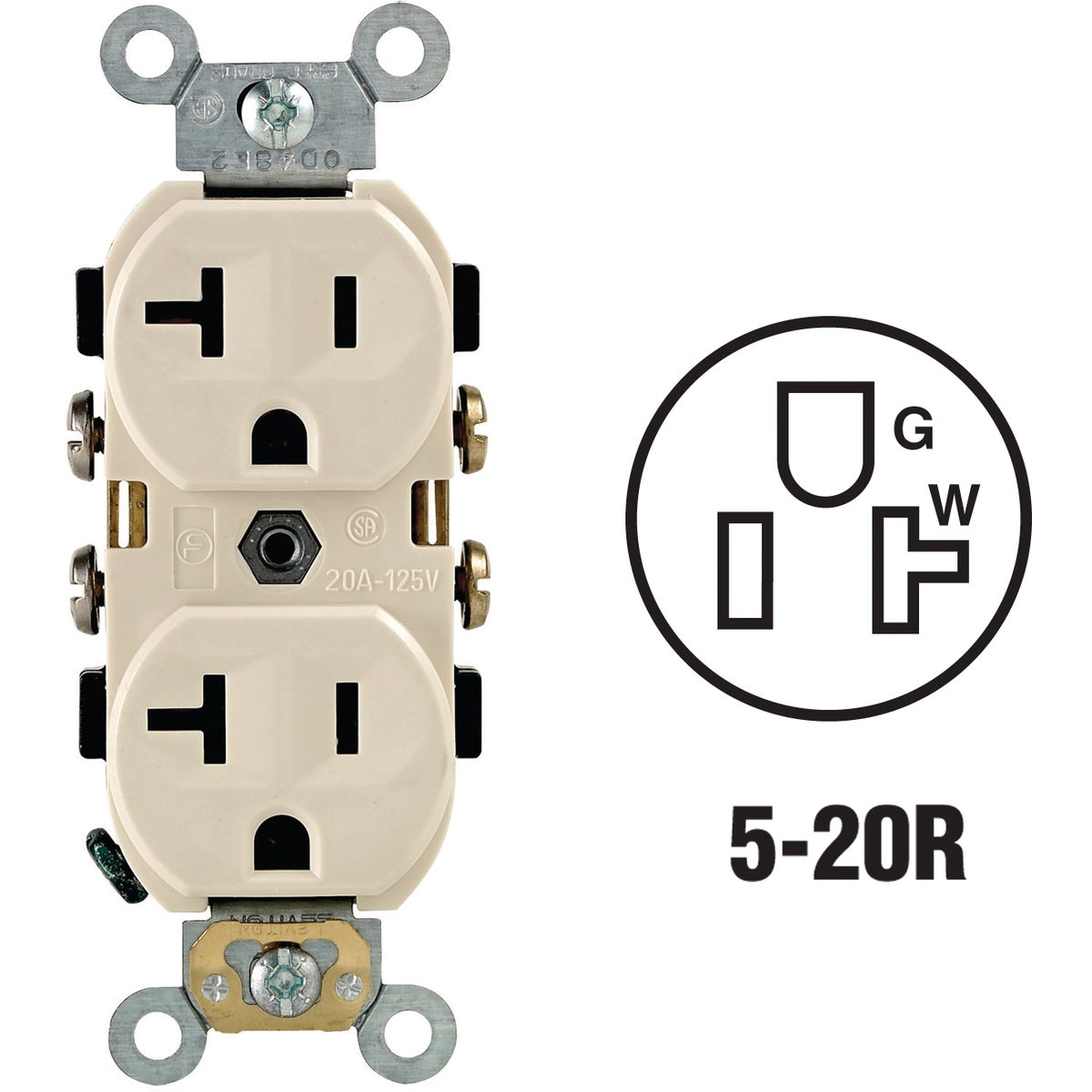 LT ALM DPLX OUTLET - S06-OCR20-0TS by Leviton Mfg Co