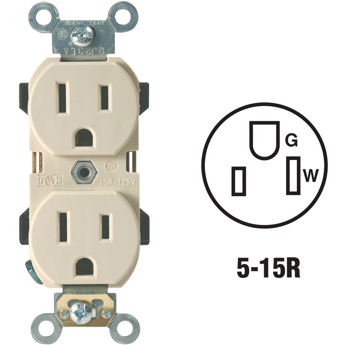 IV DUPLEX OUTLET - R51-5252I by Leviton Mfg Co