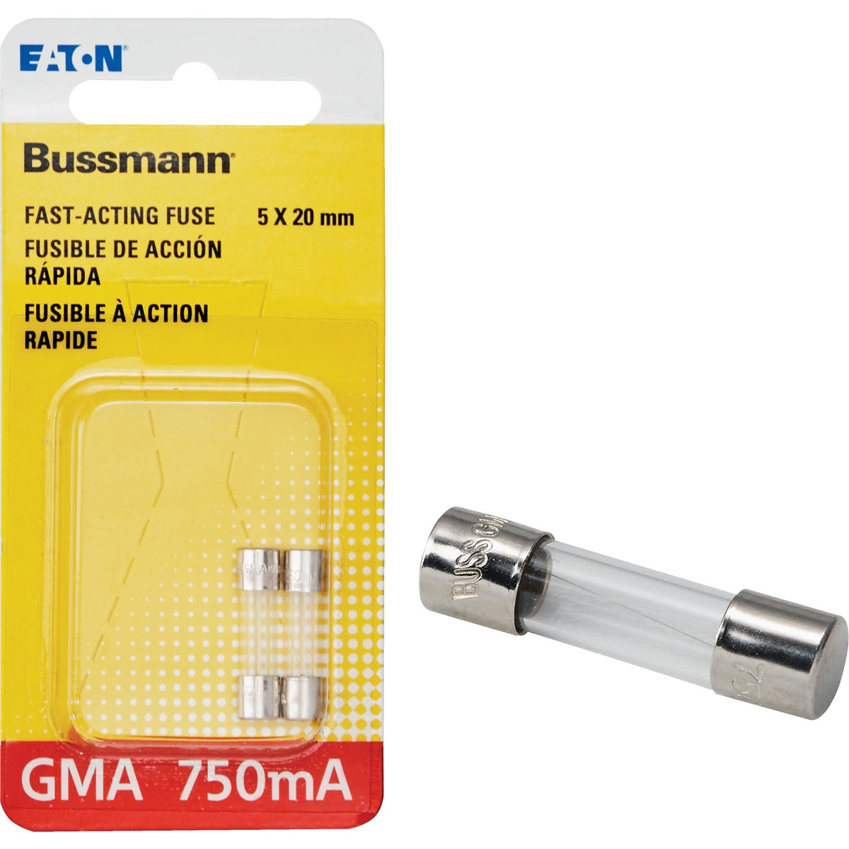 ELECTRONIC GLASS FUSE - BP/GMA-750MA by Bussmann Cooper