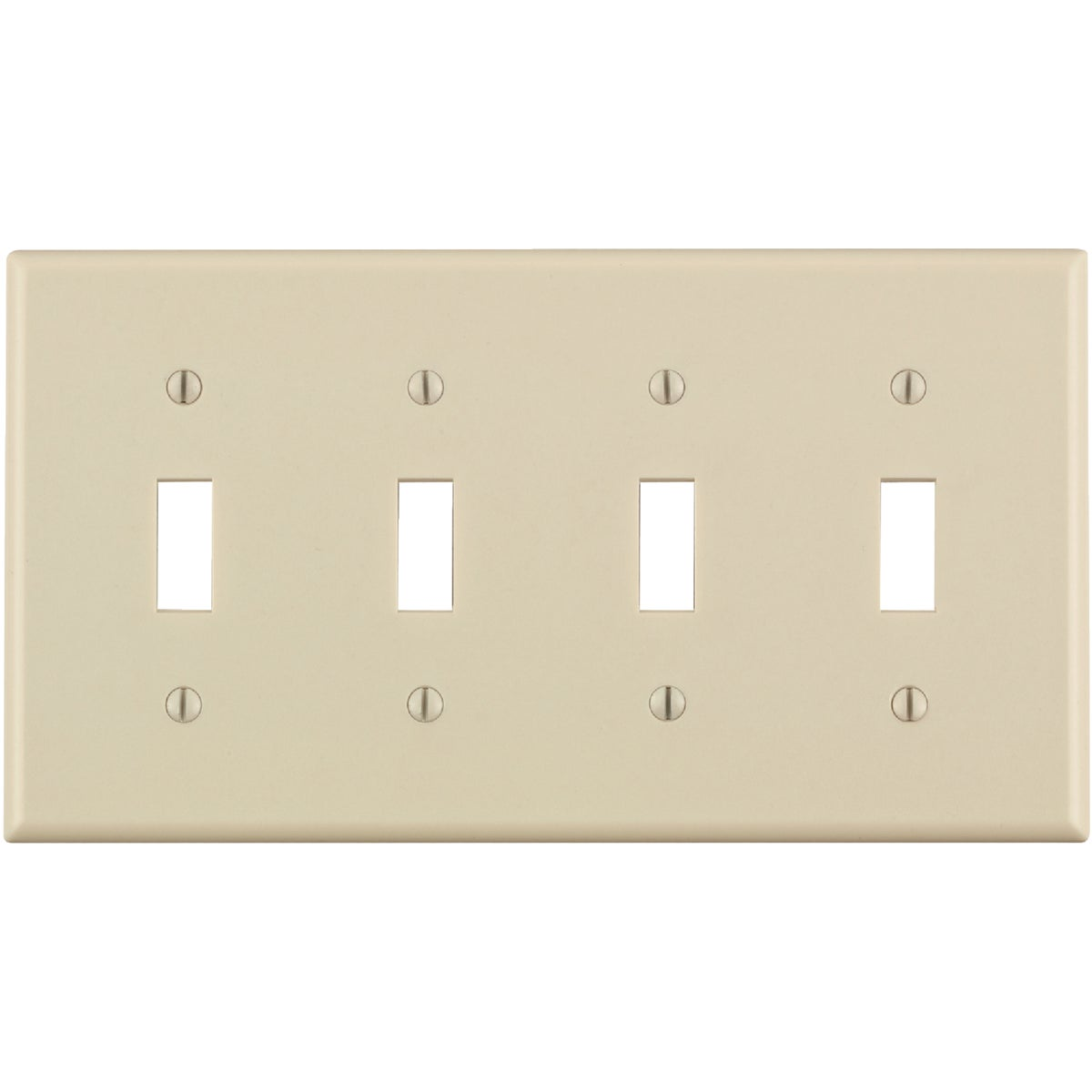 LT ALM 4-TGL WALLPLATE - 000-78012 by Leviton Mfg Co