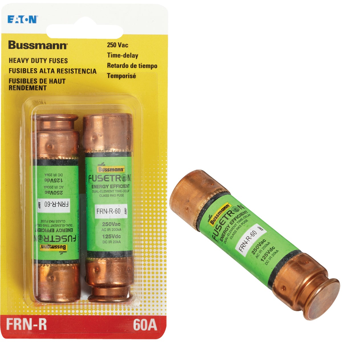 60A CARTRIDGE FUSE - BP/FRN-R-60 by Bussmann Cooper