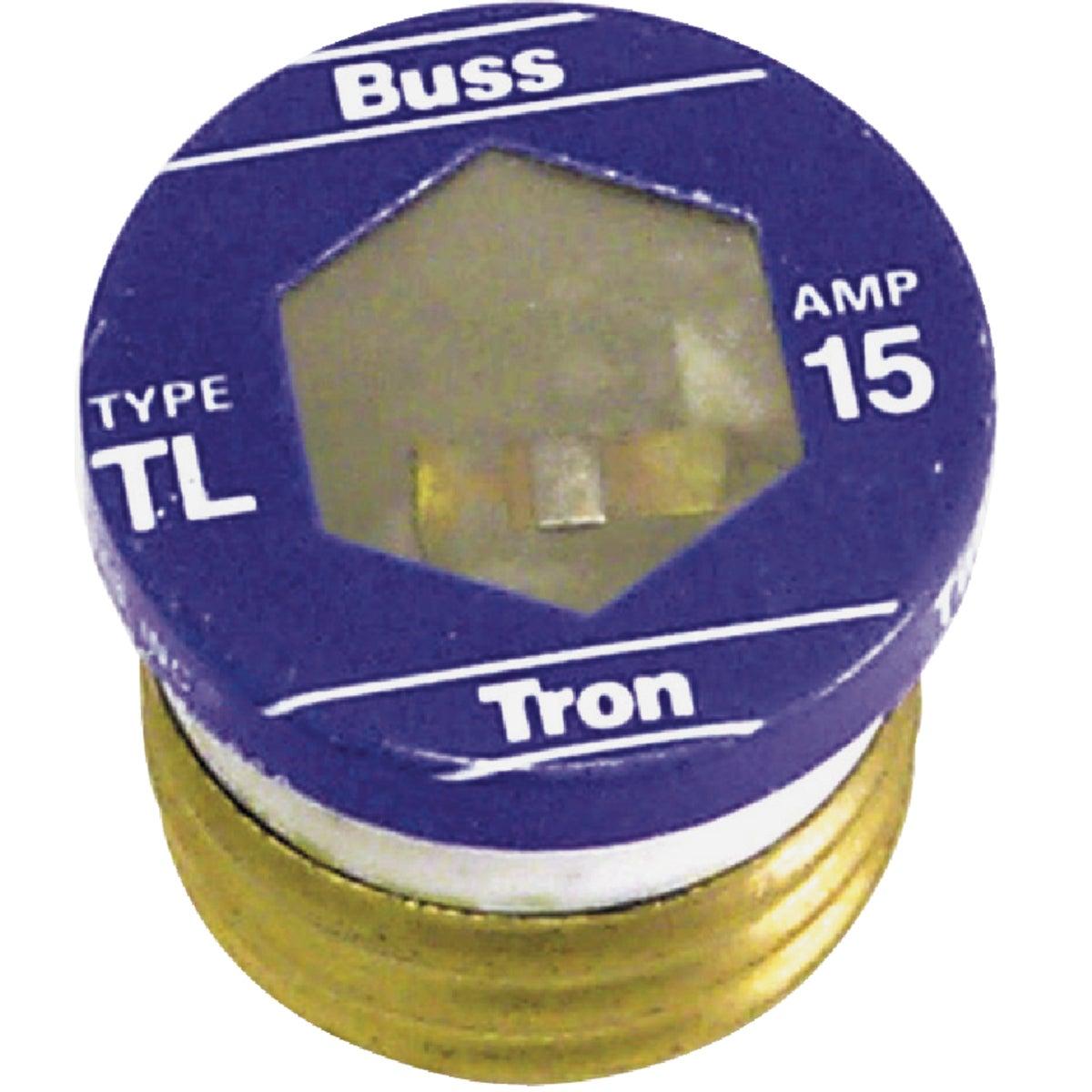 Bussmann 15A BP/TL Time-Delay Plug Fuse (3-Pack)