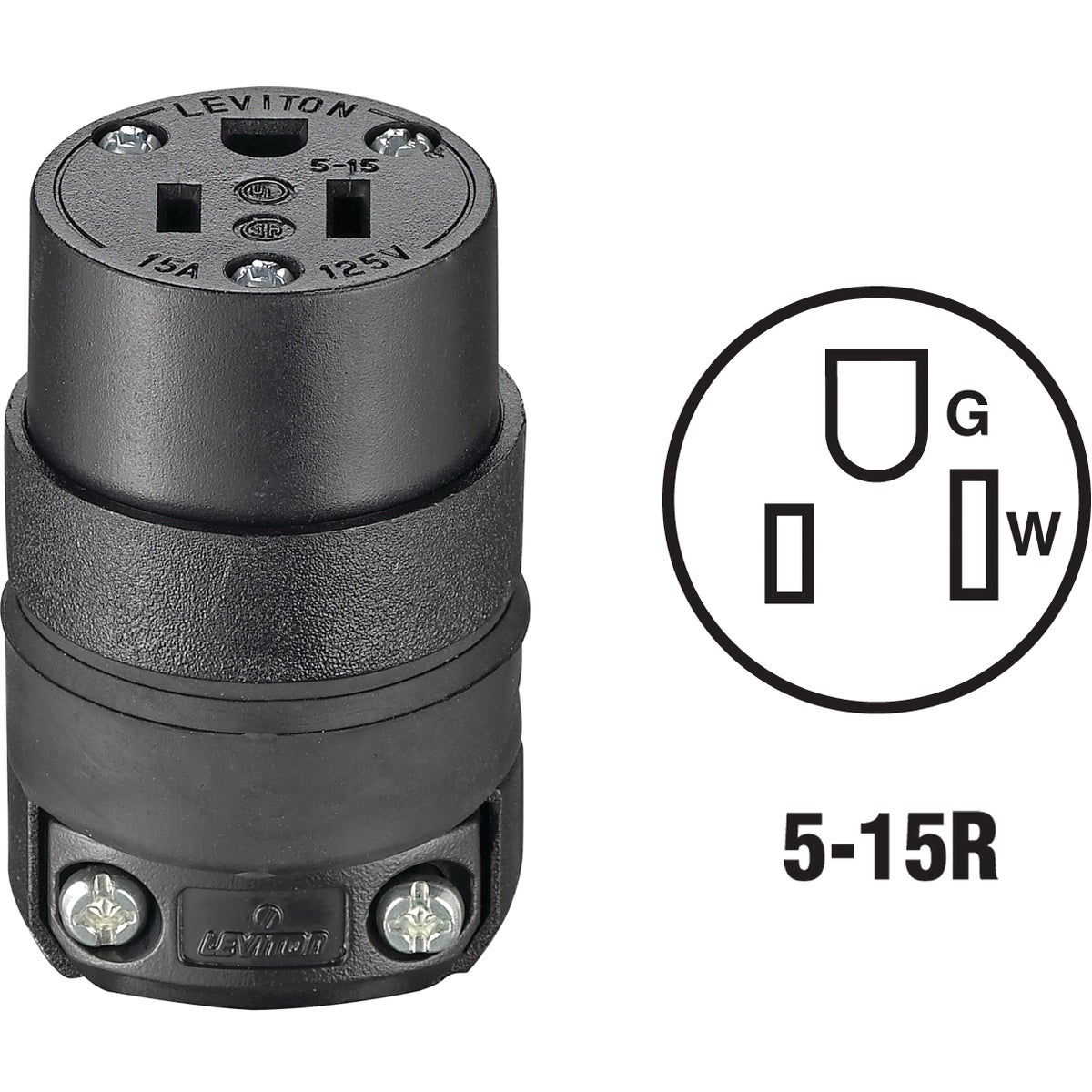 BLK CORD CONNECTOR - 515CR by Leviton Mfg Co