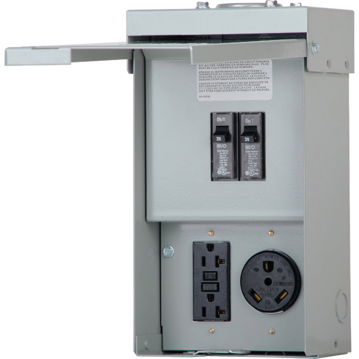 50A UTILITY POWER OUTLET - CHU4N7NS by Eaton Corporation