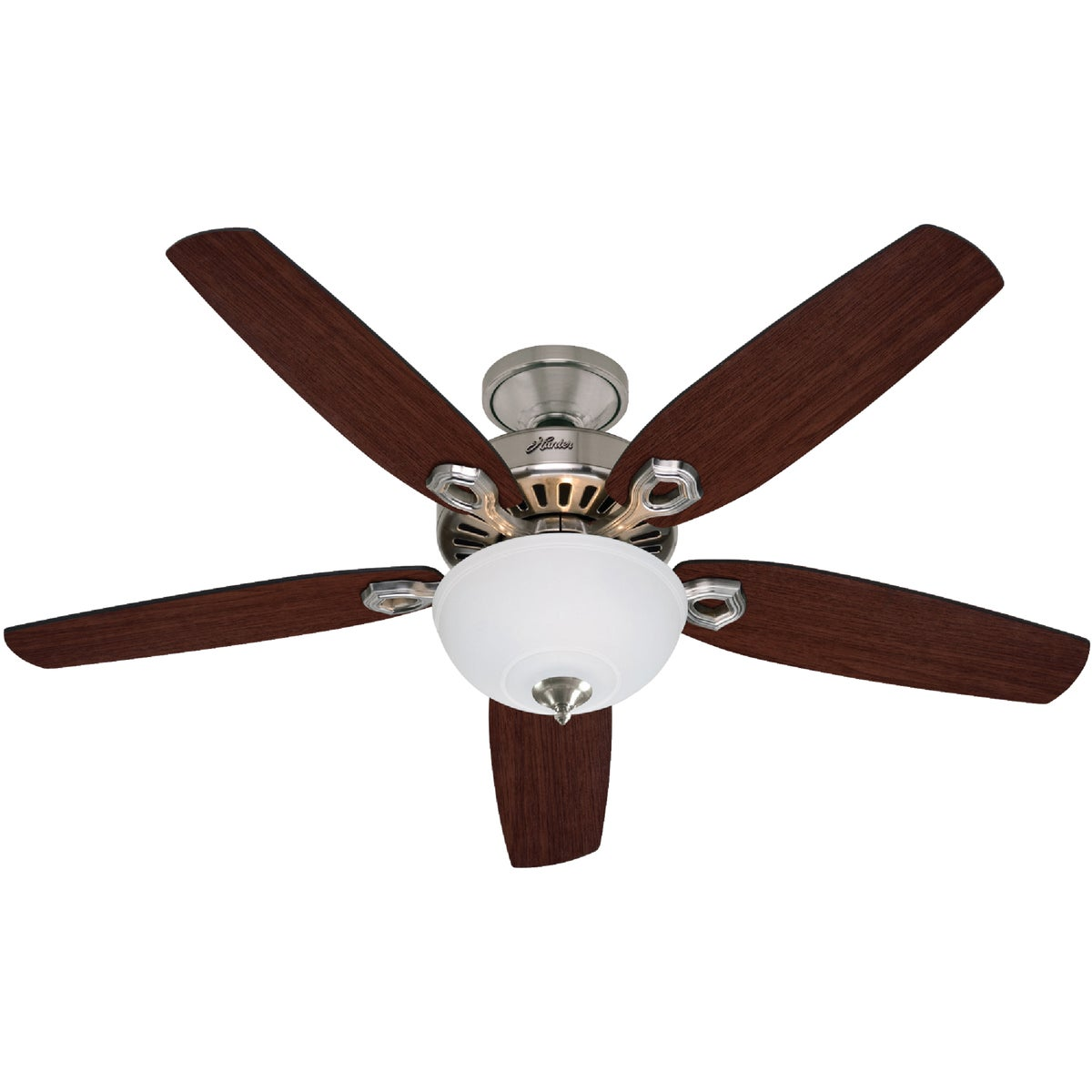 "52"" BR NICKEL FAN W/LT - 53090 by Hunter Fan Co"
