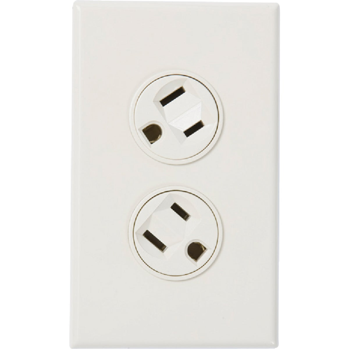 WHT ROTATE DUPLEX OUTLET - 36010-W by 360 Electrical
