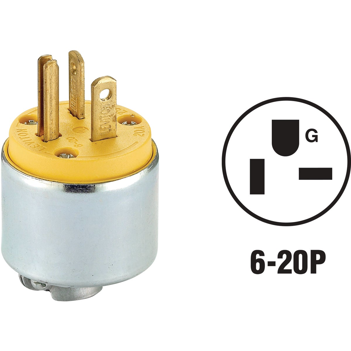 YEL ARMORED PLUG - 620PA by Leviton Mfg Co