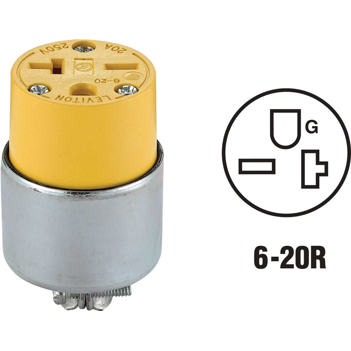 YEL ARMORED CONNECTOR - 620CA by Leviton Mfg Co