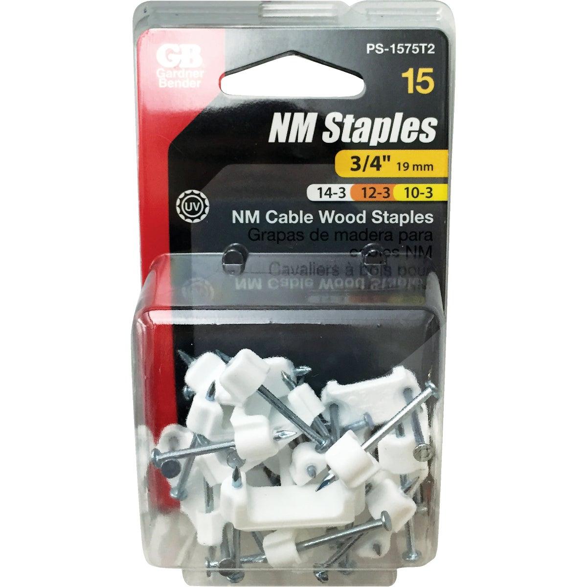 """3/4"""" 15PK PLASTIC STAPLE"""