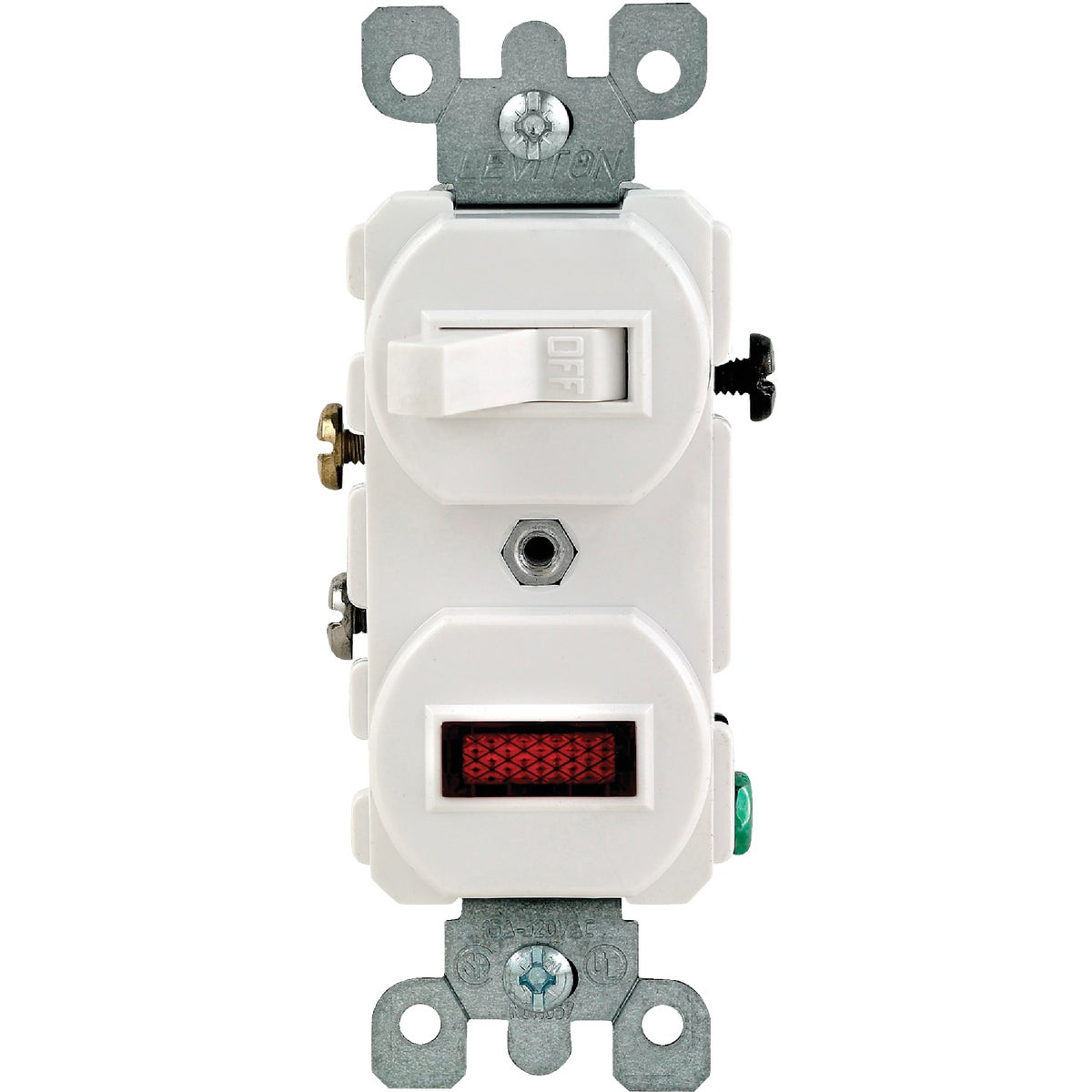 WHITE SWITCH/PILOT LIGHT - S04-05226-WS by Leviton Mfg Co