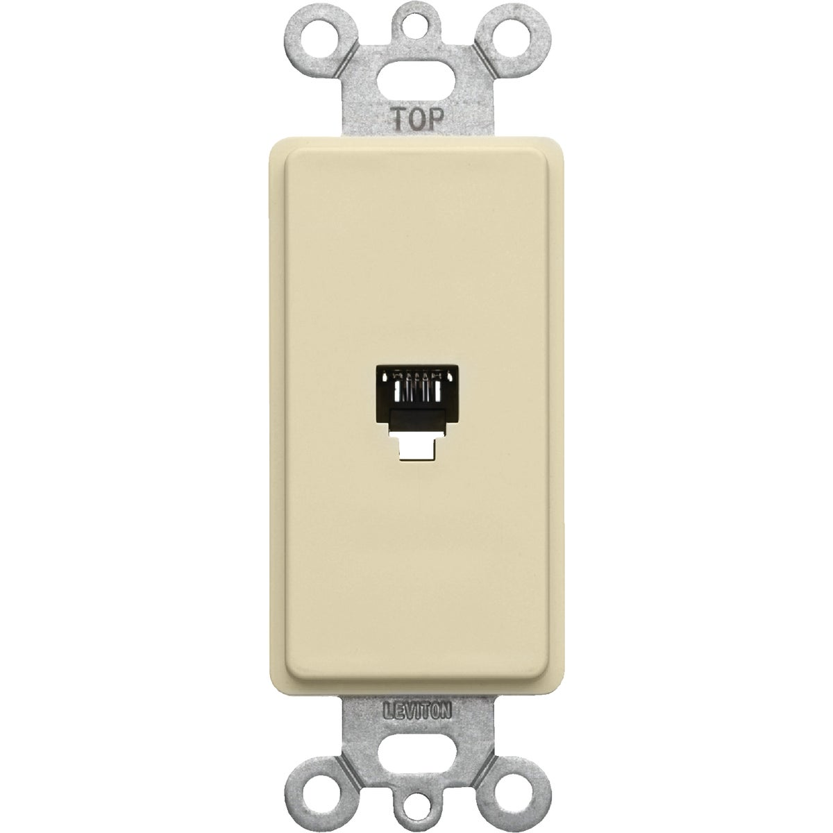 IVORY DEC PHONE JACK - 406491 by Leviton Mfg Co