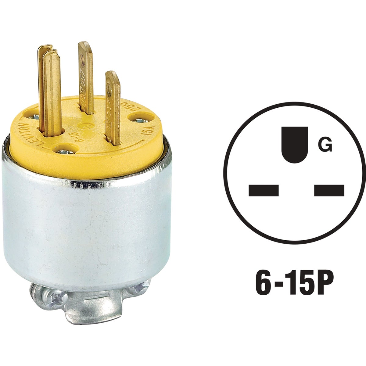 YEL ARMORED PLUG - 615PA by Leviton Mfg Co