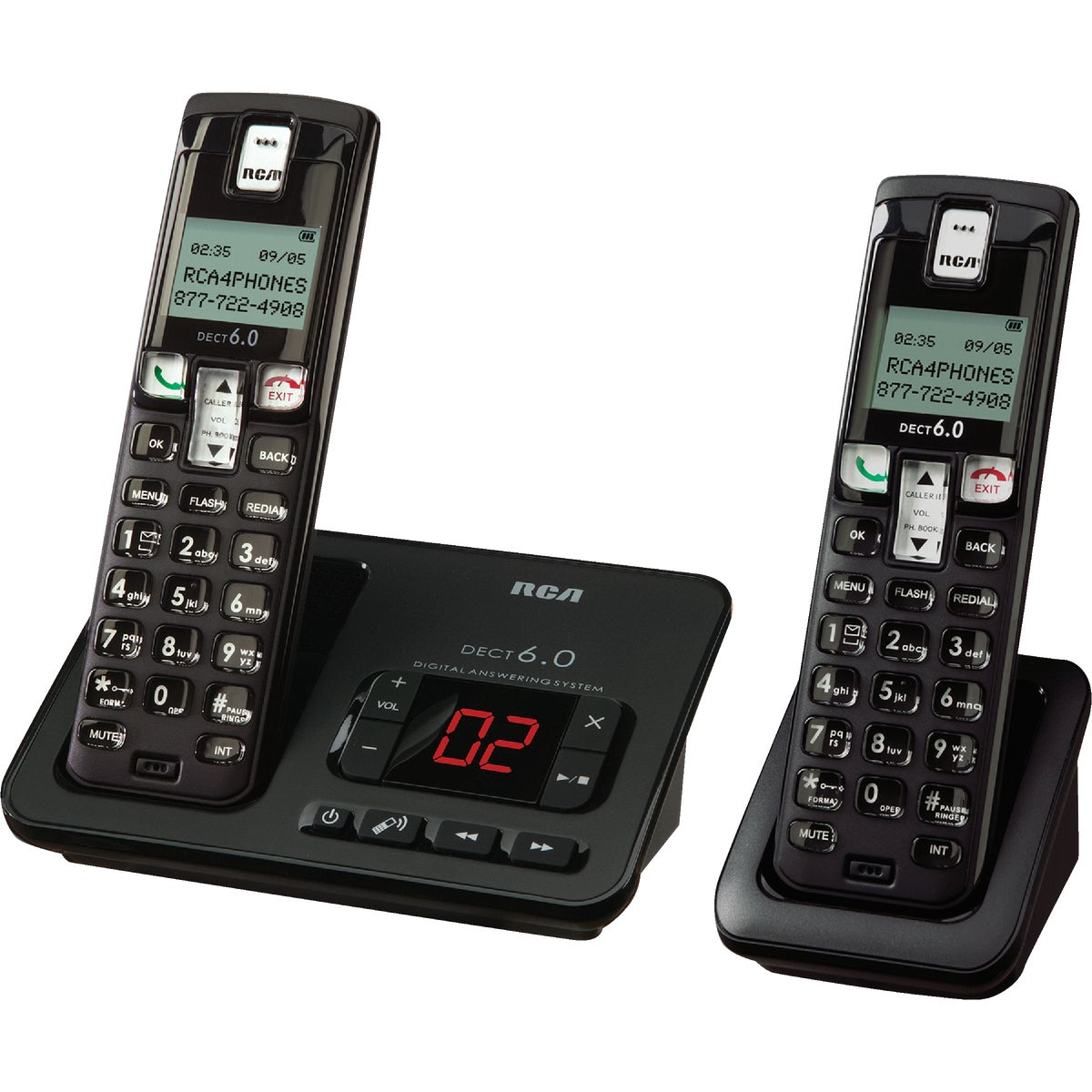 2SET CRDLS PHONE W/ANSWR - CS6629-2 by Imperial Sales