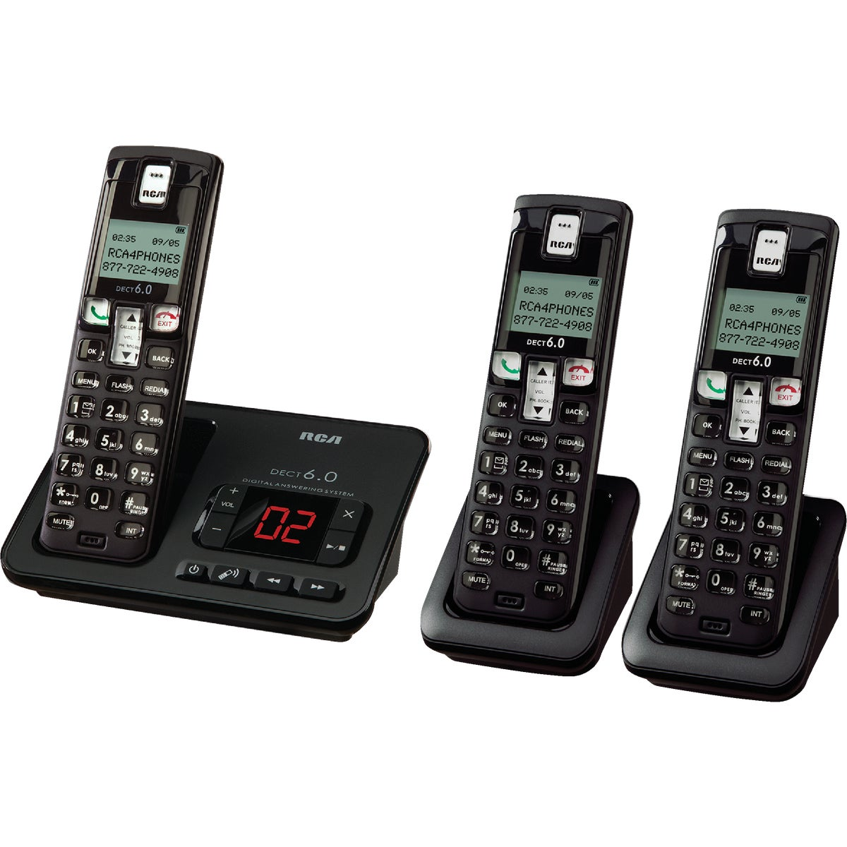 M Rothamn & Co Inc DECT CORDLESS 3SET PHONE EL52309