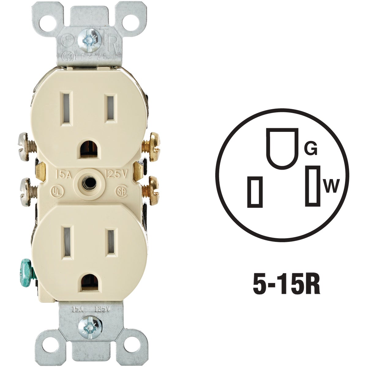 IV DUPLEX TAMPER OUTLET - N01-T5320-00I by Leviton Mfg Co
