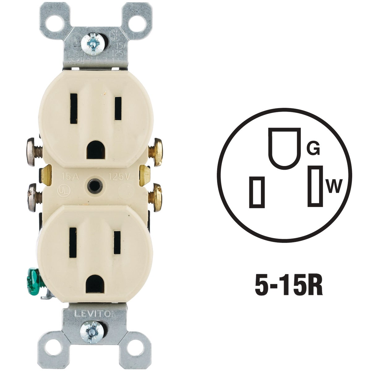 IV DUPLEX OUTLET - 8755320I by Leviton Mfg Co