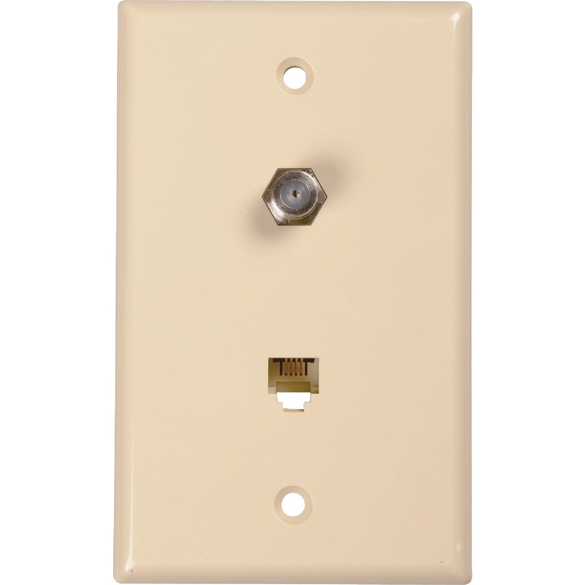 PHONE/COAX WALL PLATE - TP062RV by Audiovox Accessories