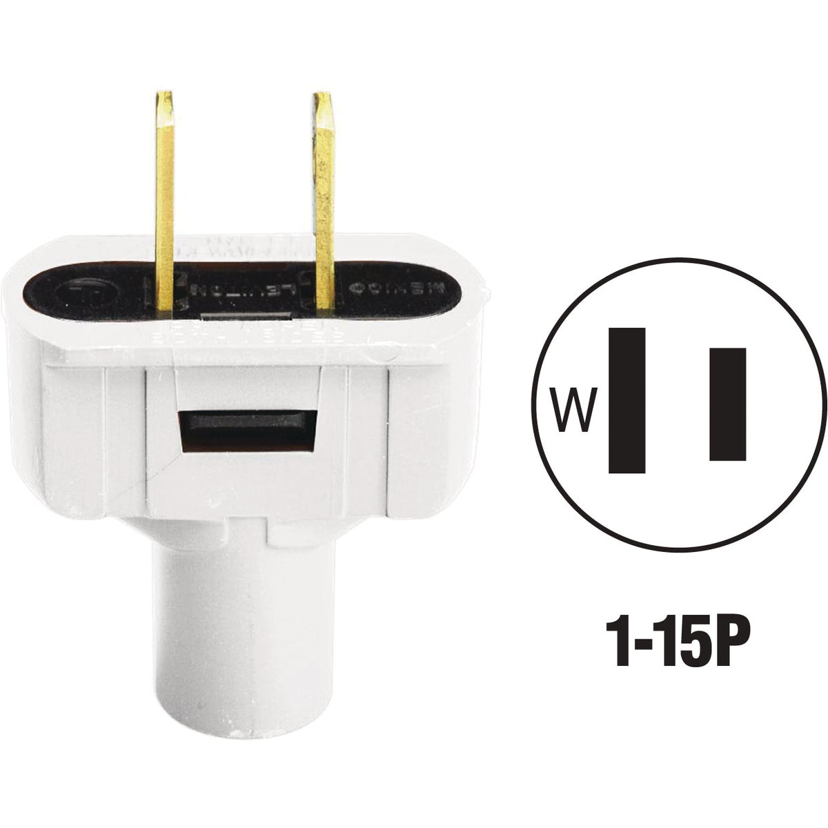WHT CORD PLUG - 87648643W by Leviton Mfg Co