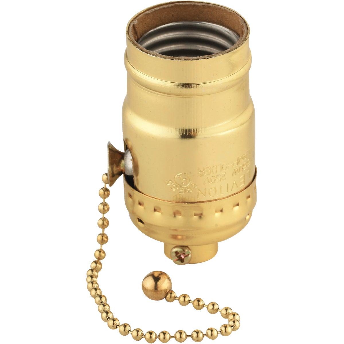 Do it Pull Chain Medium Base Polished Gilt Lamp Socket
