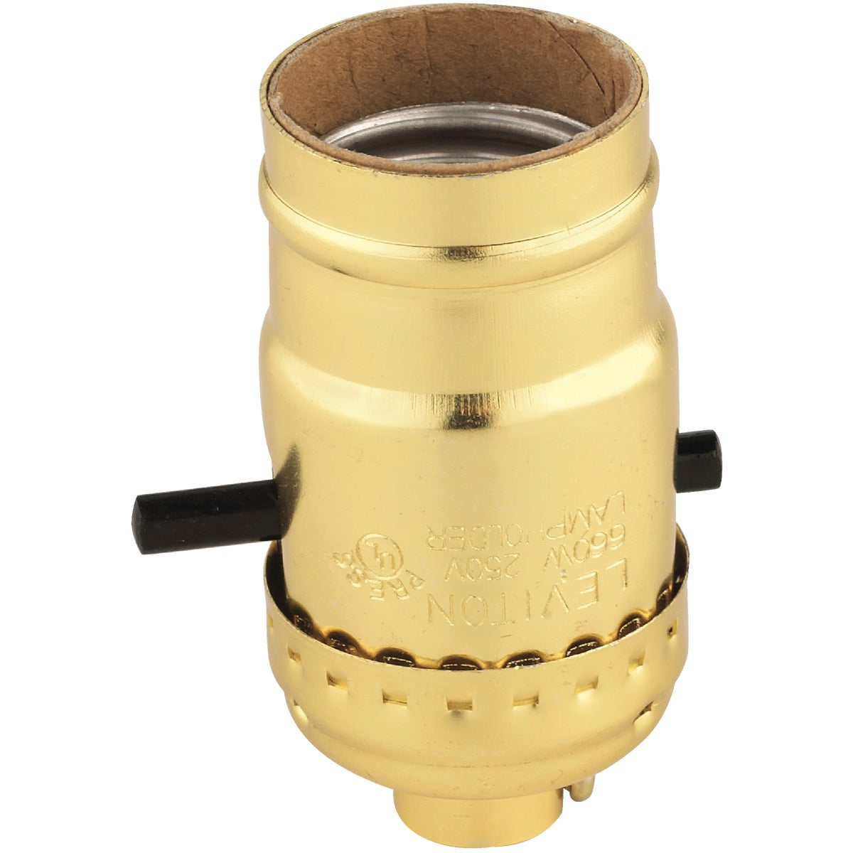 Do it Push-Button Medium Base Brass Lamp Socket