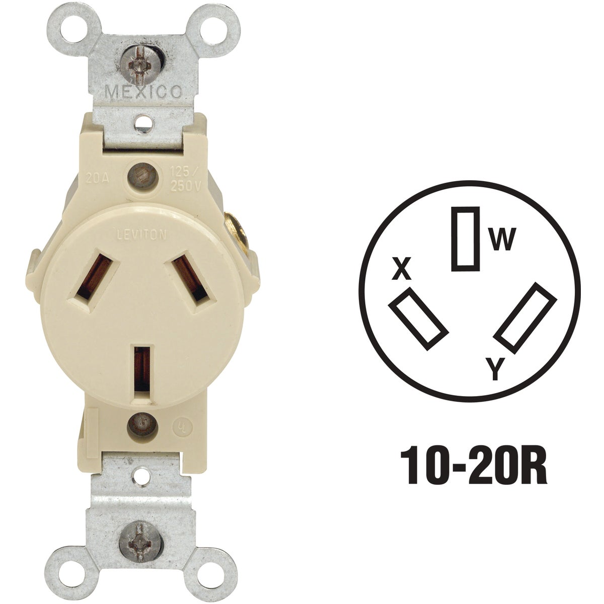 20A IV SINGLE OUTLET - 0030503200I by Leviton Mfg Co
