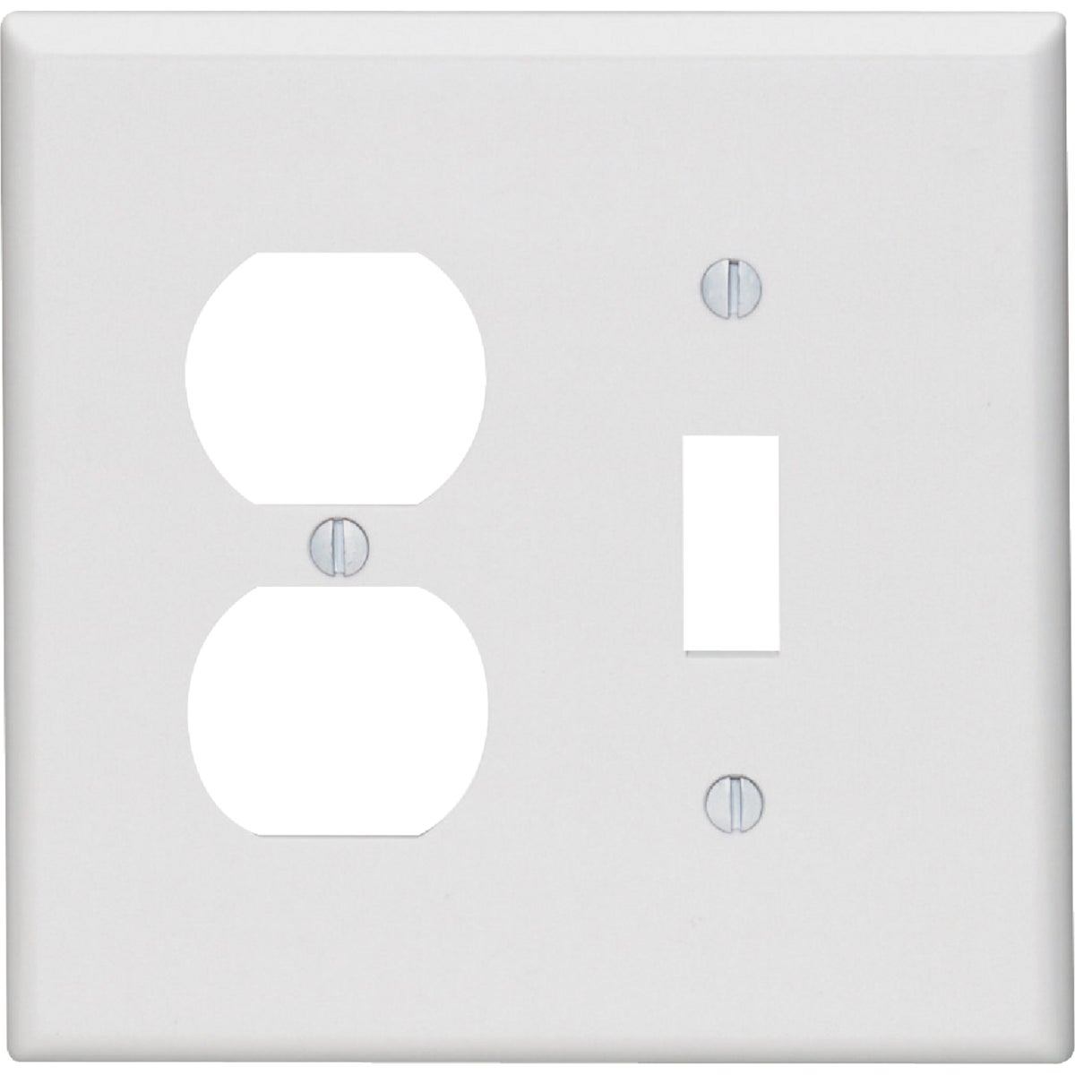 WHT COMBO WALL PLATE