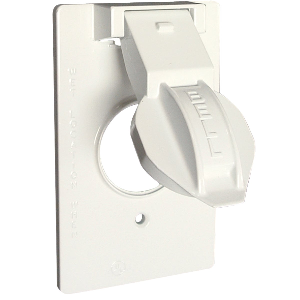 WHT RND WP OUTLET COVER - 5155-6 by Hubbell