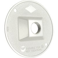 Wht Outdoor Round Cover