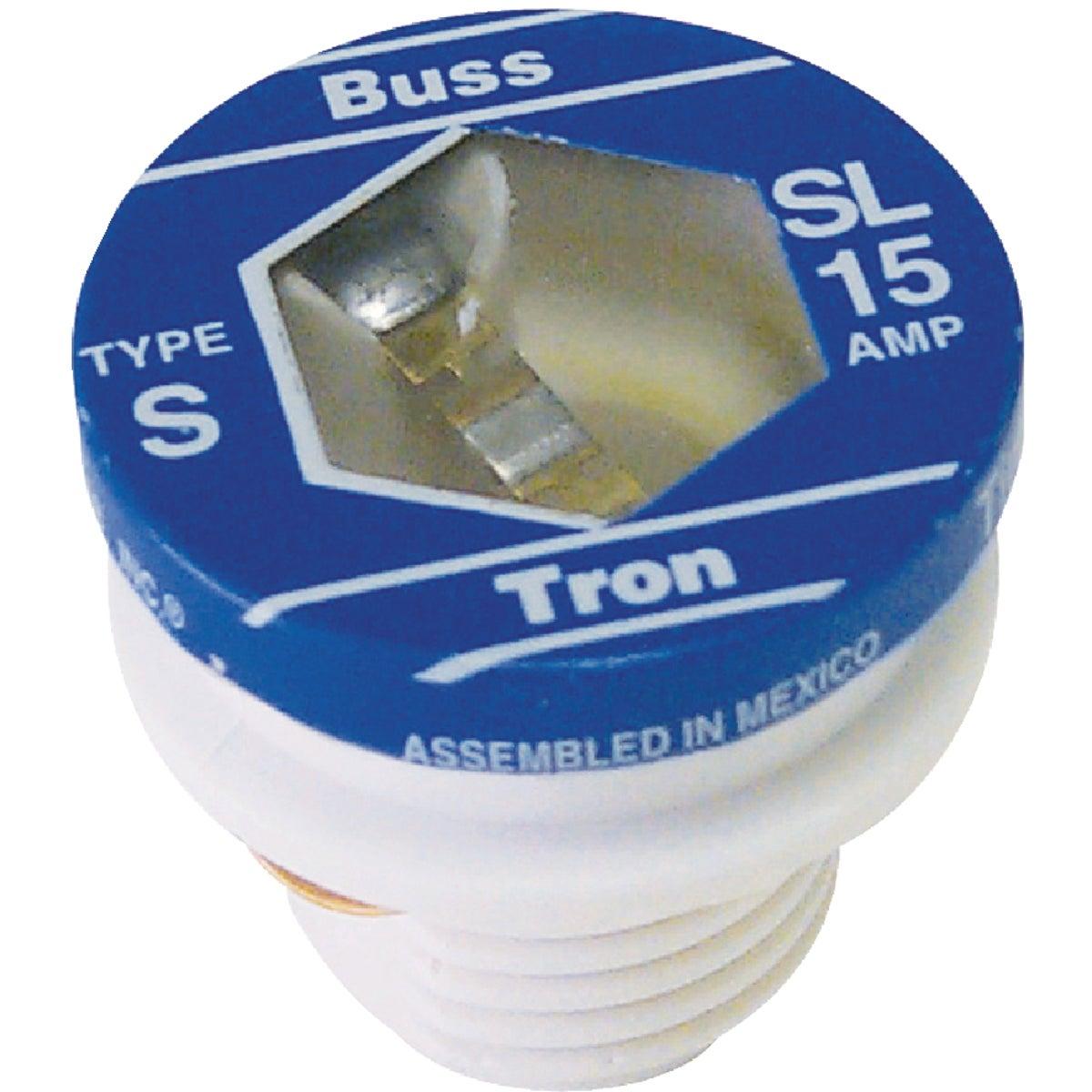 Bussmann 15A BP/SL Time-Delay Plug Fuse (3-Pack)