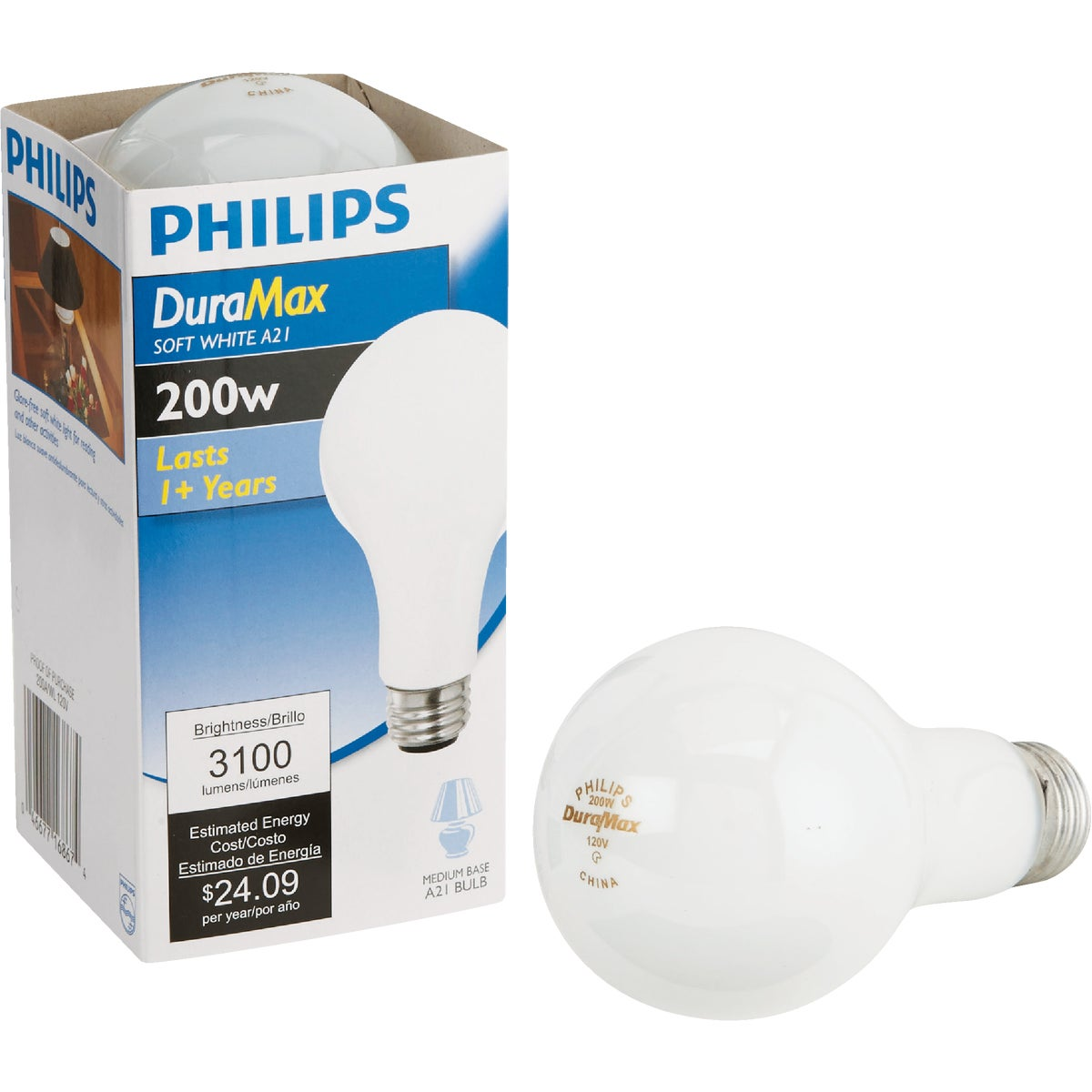 200W SW LIGHT BULB - 44534 200A/W by G E Lighting