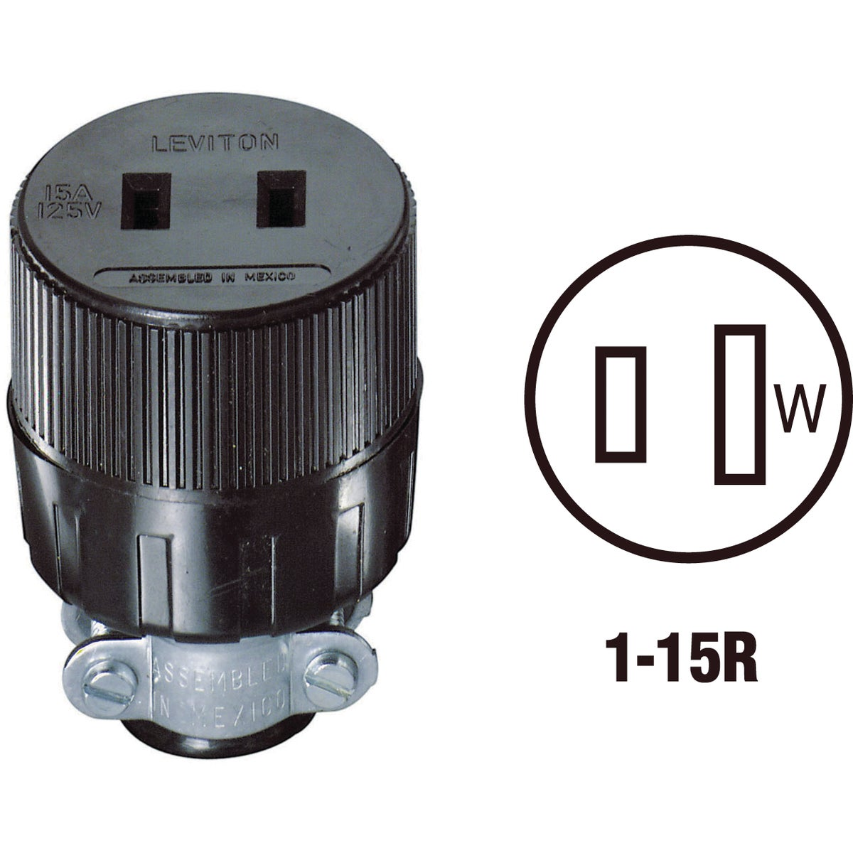 BLK CORD CONNECTOR - 875612 by Leviton Mfg Co