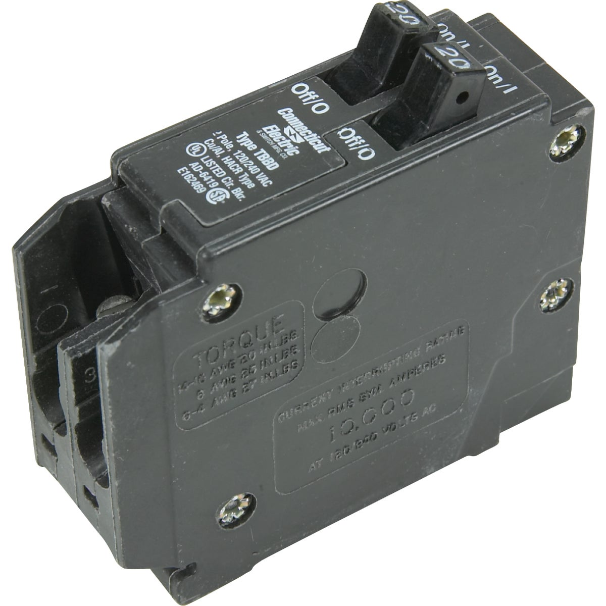 20A TWIN CIRCUIT BREAKER - ICBQ2020 by Connecticut Electric