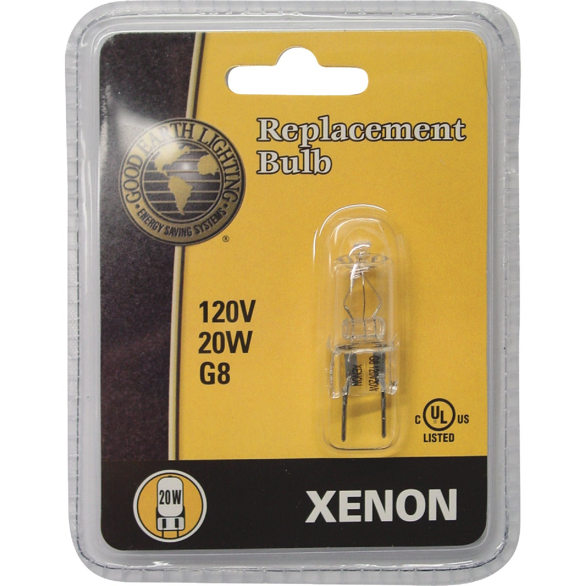 20W G8 XENON BULB - G8-120V20W-XBLB by Good Earth Lighting