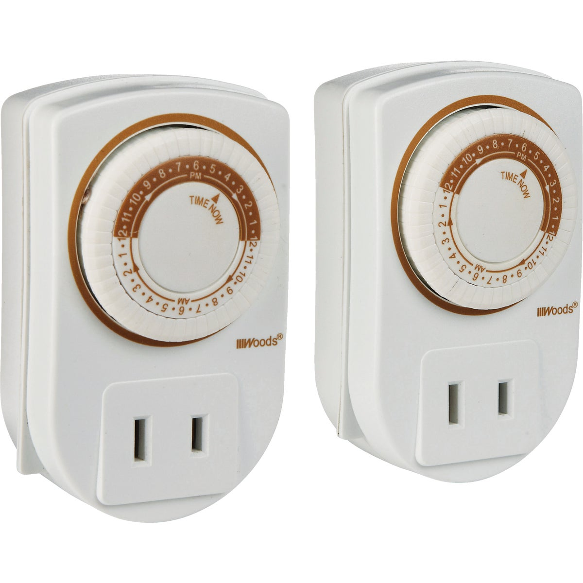 2PK PLUGIN INDOOR TIMER - 50006 by Woods Wire Coleman