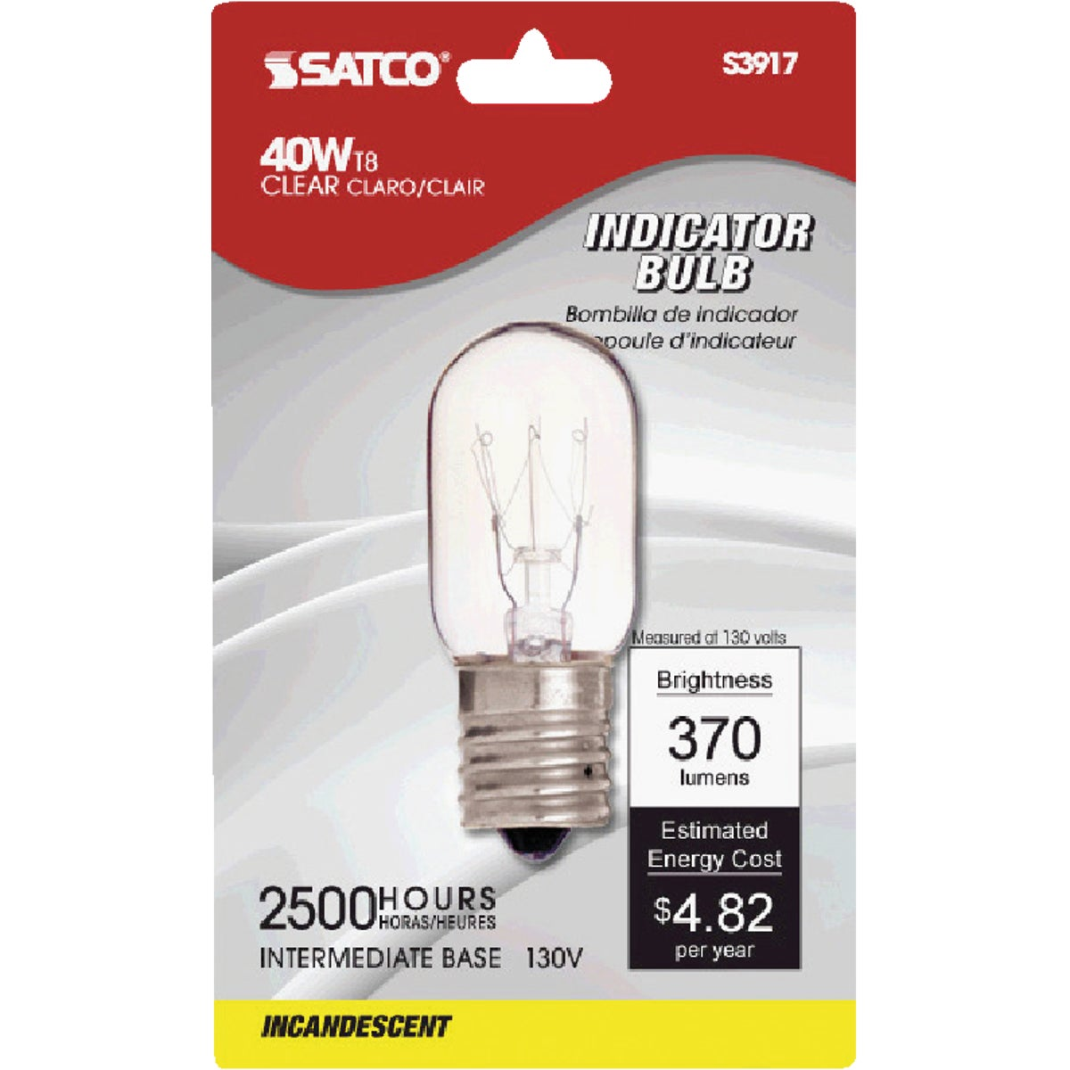 40 WATT MICROWAVE BULB - 71604 40T8N/CD by G E Lighting