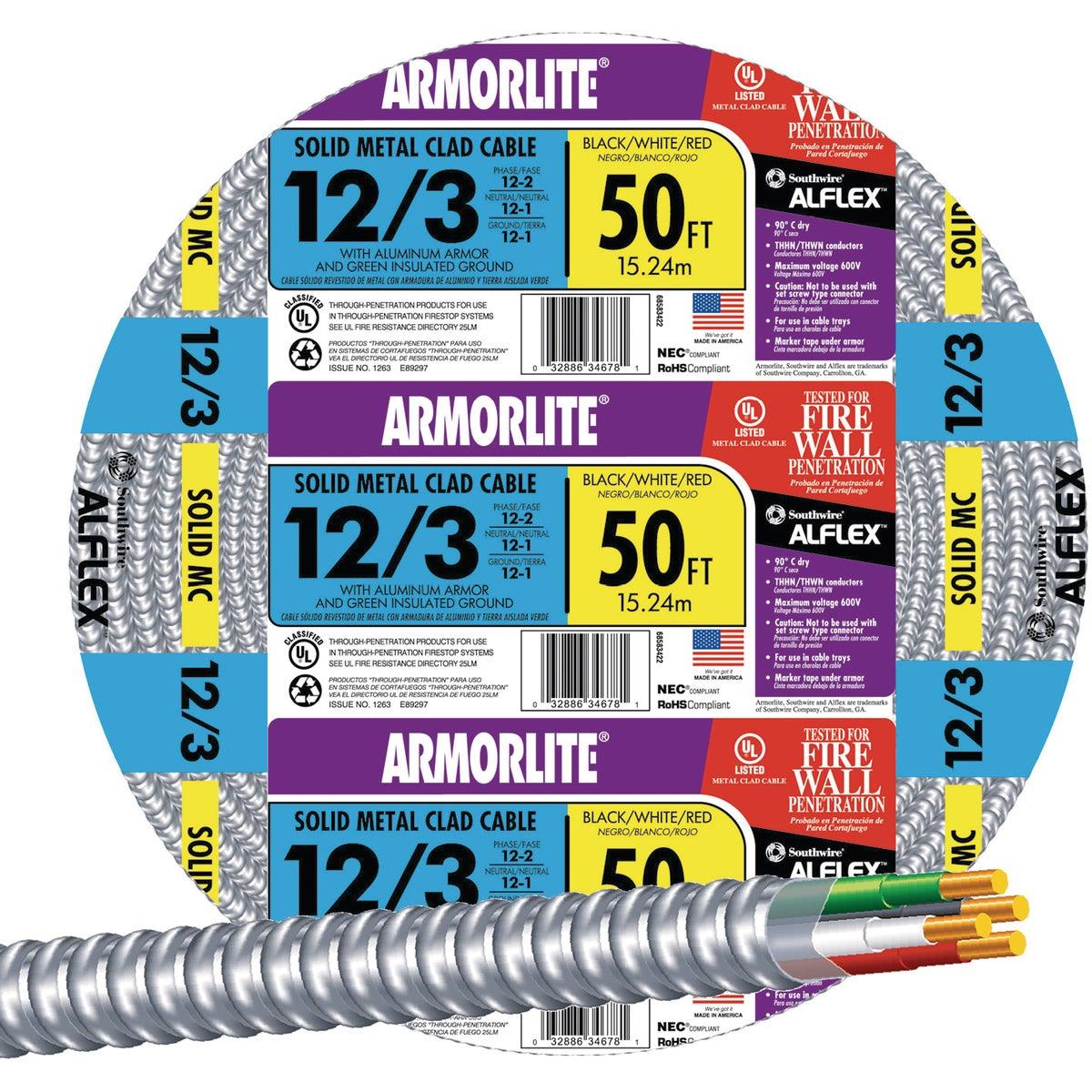 50' 12/3 MC ALUM CABLE
