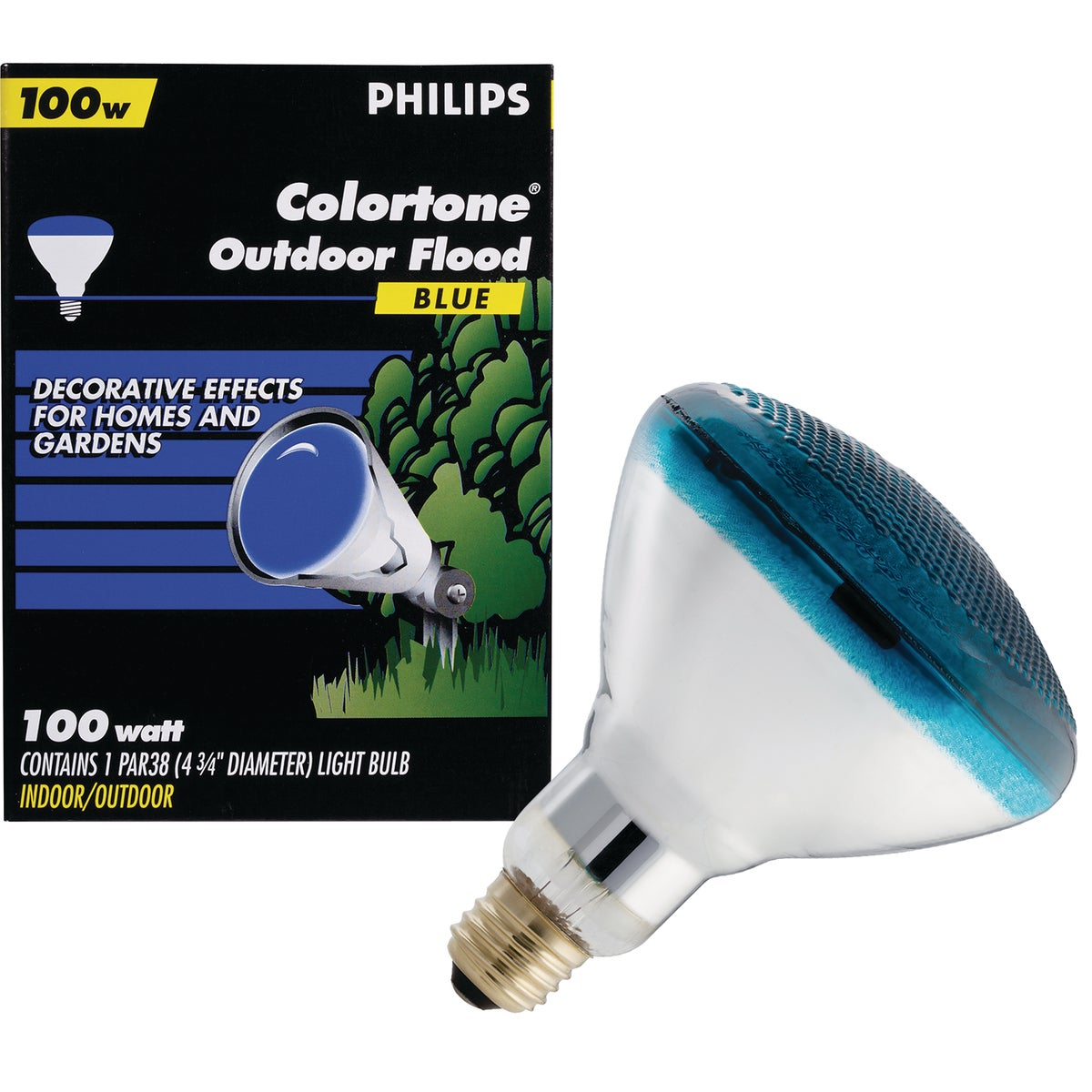 100W BLUE PAR FLOOD BULB - 04414 by Westinghouse Lightng