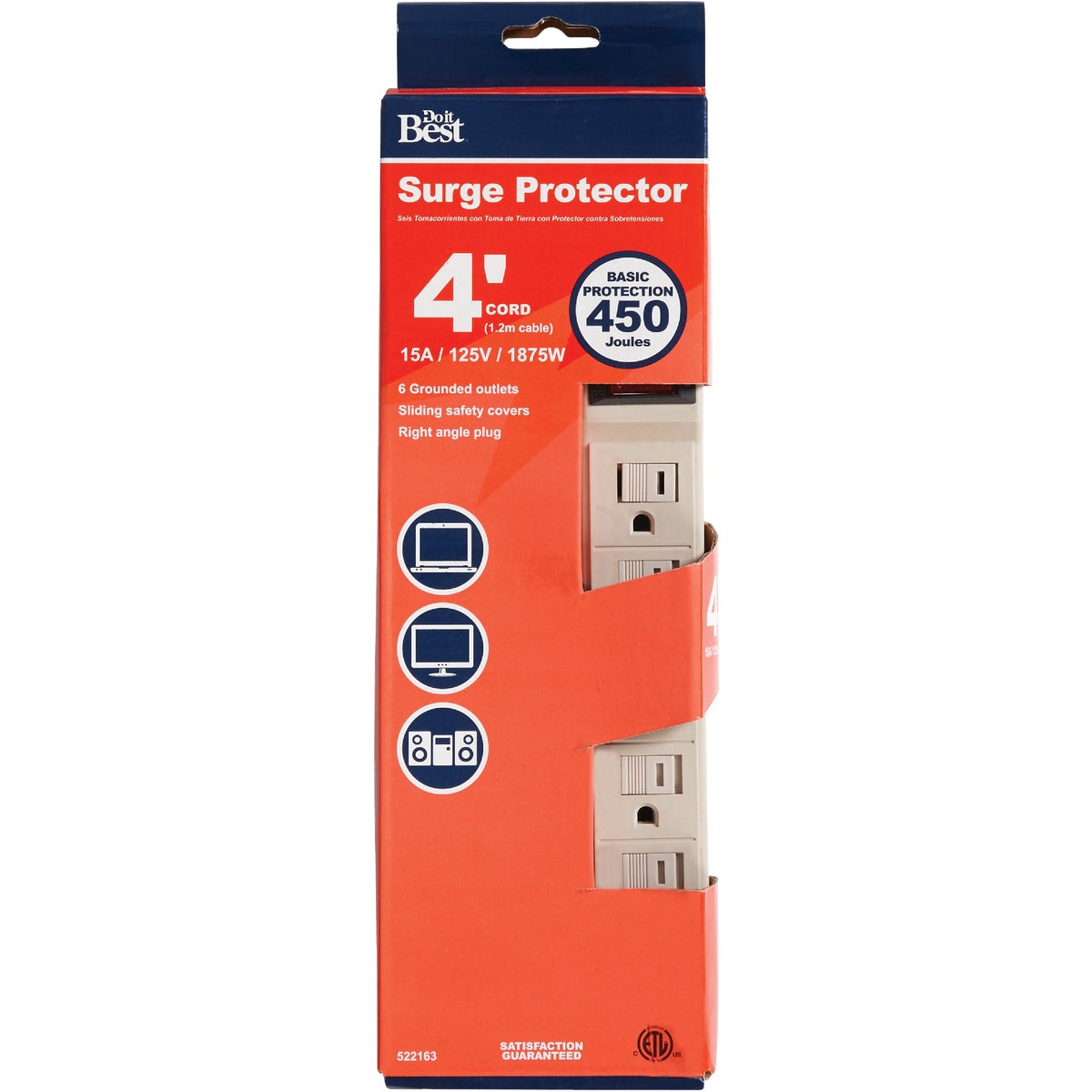 6-OUTLET SURGE STRIP - 522163 by Coleman Cable Import
